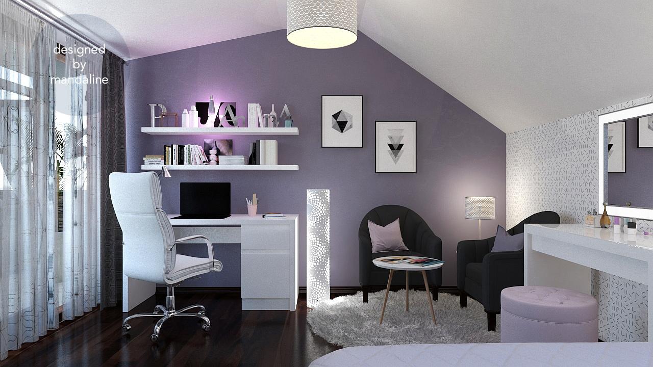 Purple Princess Bedroom Mandaline
